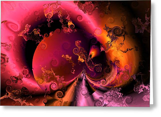 Algorithmic Abstract Greeting Cards - The union of purple and pink Greeting Card by Claude McCoy