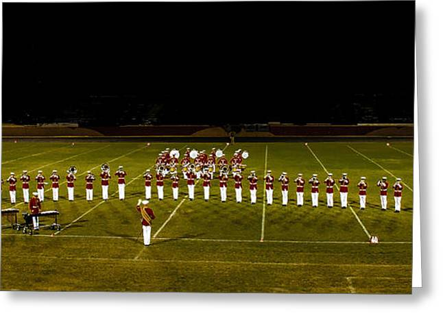 Haybale Greeting Cards - The United States Marine Band Greeting Card by Robert Bales
