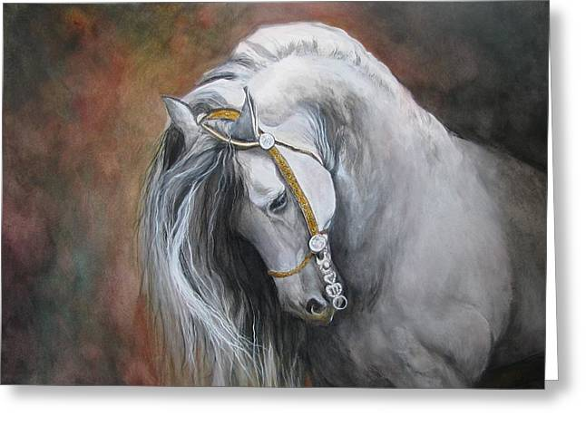 Animal Artwork Greeting Cards - The Unreigned King Greeting Card by Nonie Wideman