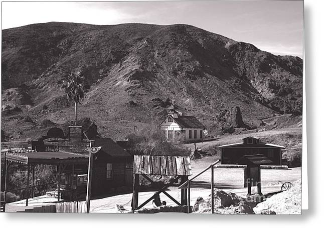 The Upper Village of Calico Ghost Town Greeting Card by Susanne Van Hulst