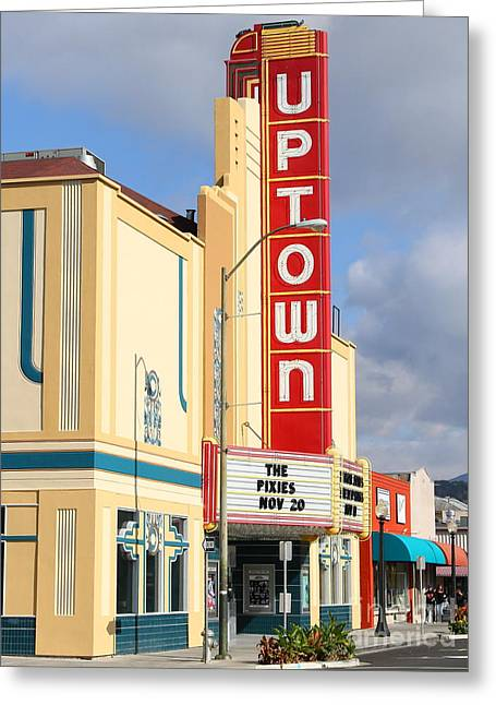 Vineyard Art Greeting Cards - The Uptown Theater in Napa California Wine Country . 7D8927 Greeting Card by Wingsdomain Art and Photography