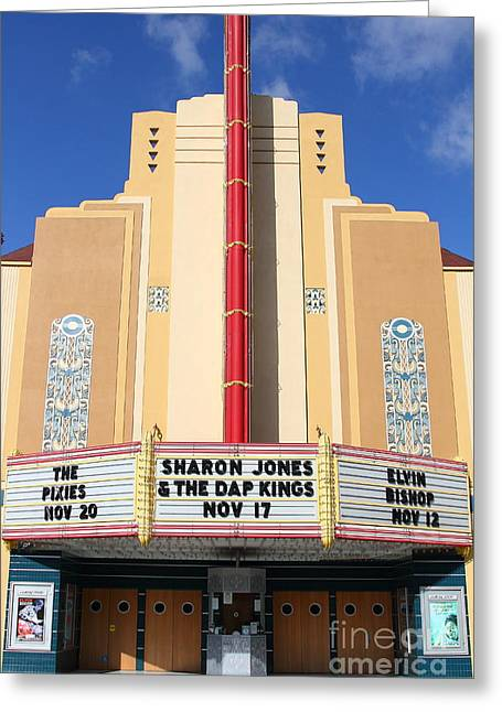 Vineyard Art Greeting Cards - The Uptown Theater in Napa California Wine Country . 7D8931 Greeting Card by Wingsdomain Art and Photography