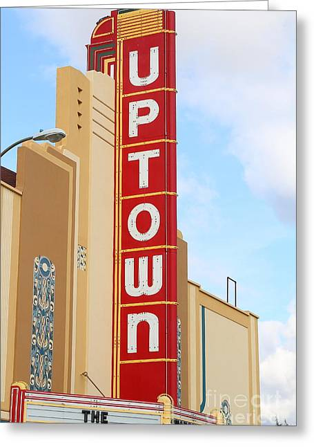 Vineyard Art Greeting Cards - The Uptown Theater in Napa California Wine Country . 7D8982 Greeting Card by Wingsdomain Art and Photography