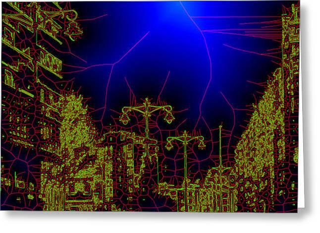 The urban network Greeting Card by Angel Jesus De la Fuente