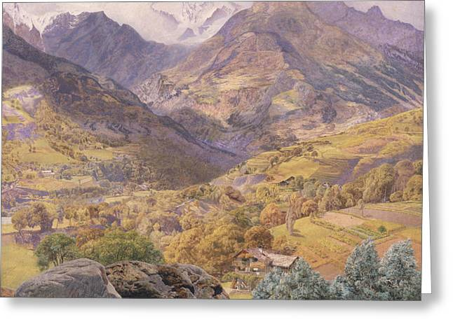 The Val d'Aosta Greeting Card by John Brett