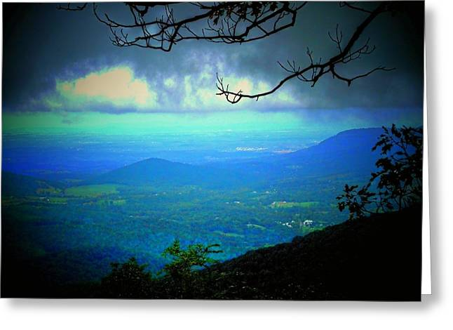 Mountain Valley Greeting Cards - The Valley Greeting Card by Michael L Kimble