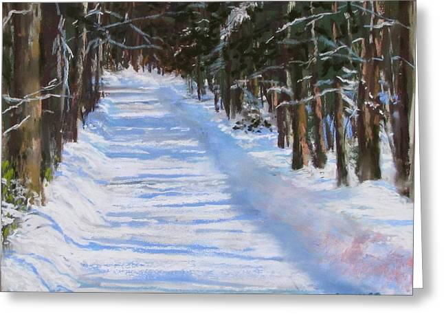 Concord Pastels Greeting Cards - The Valley Road Greeting Card by Jack Skinner