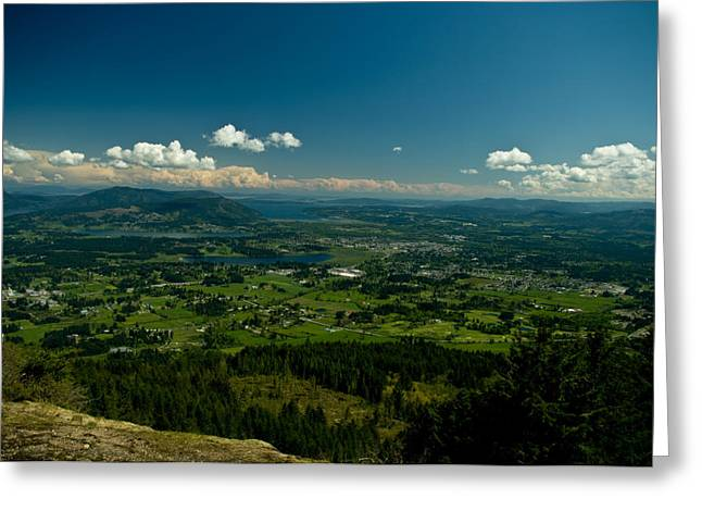 North Vancouver Digital Greeting Cards - The Valley Greeting Card by Travis Crockart