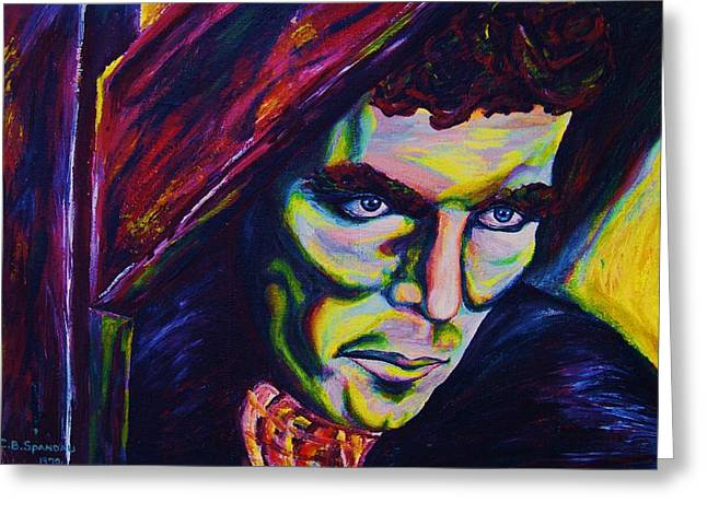 True Cross Paintings Greeting Cards - The Vampire Lestat Greeting Card by Carole Spandau