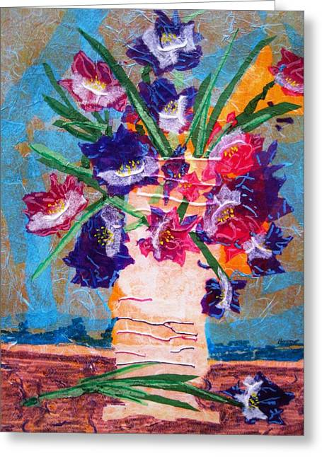 Boardroom Mixed Media Greeting Cards - The Vase Greeting Card by David Raderstorf