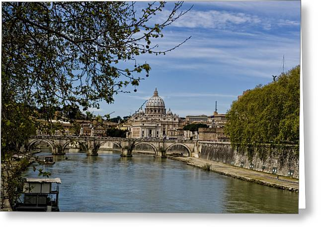 Michelangelo Greeting Cards - The Vatican by Day Greeting Card by Michelle Sheppard