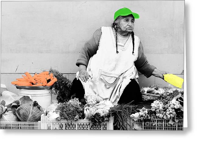 Baseball Cap Greeting Cards - The Vegetable Department Greeting Card by Al Bourassa