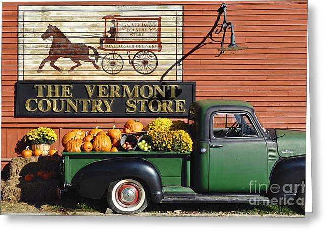 Vermont Country Store Greeting Cards - The Vermont Country Store Greeting Card by John Greim
