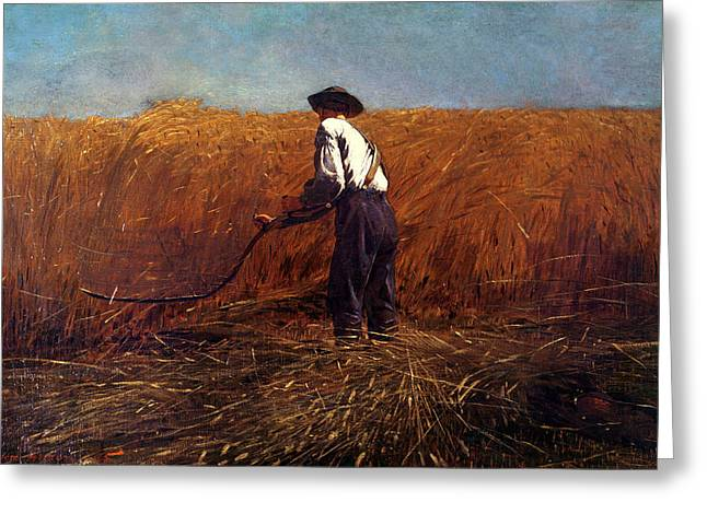 Champs Greeting Cards - The Veteran in a New Field Greeting Card by Winslow Homer