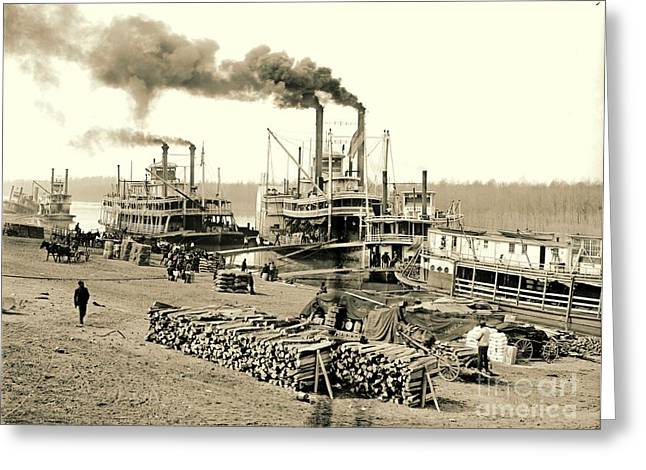 The Vicksburg Levee In Mississippi 1903 Greeting Card by Padre Art