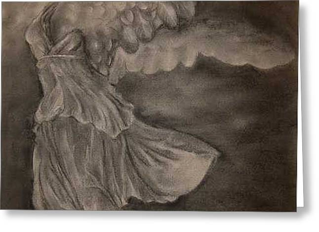 The Victory of Samothrace Greeting Card by Julianna Ziegler