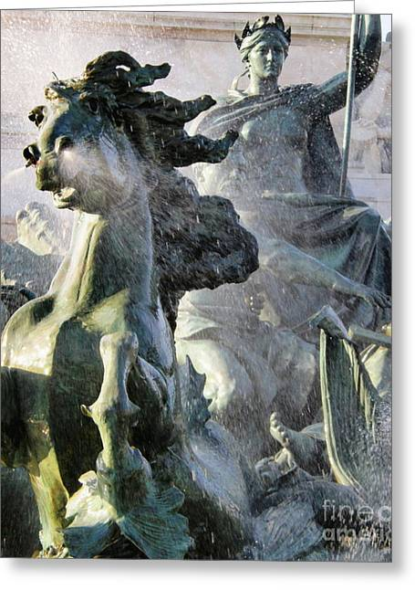 Historic Statue Greeting Cards - The Victory Scene Greeting Card by Sophie Vigneault
