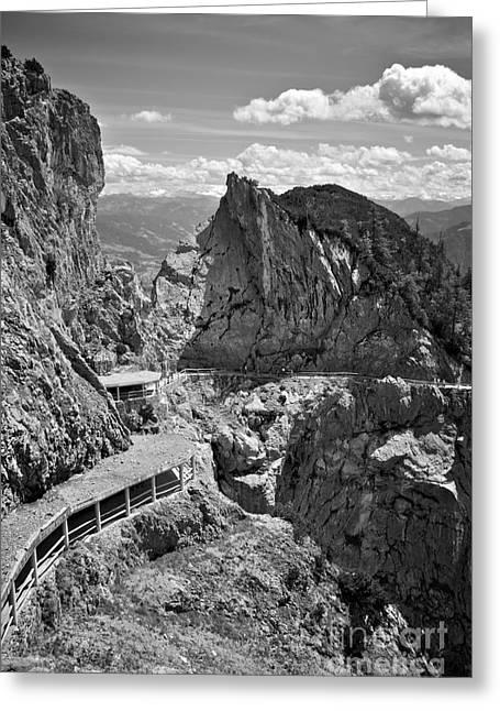 Salzburg Greeting Cards - The view from Eisriesenwelt Werfen Ice Cave Greeting Card by Hideaki Sakurai