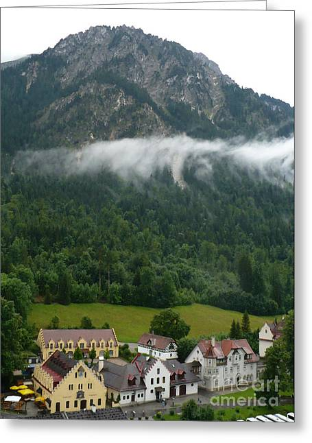 Castle On Mountain Greeting Cards - The View from Hohenschwastein - Digital Painting Greeting Card by Carol Groenen
