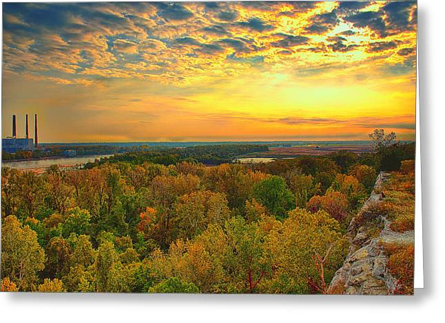 Ledge Greeting Cards - The View From Klondike Overlook Greeting Card by Bill Tiepelman