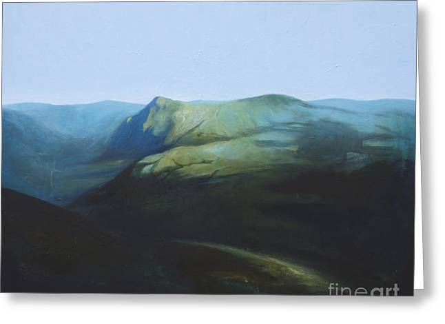 Recently Sold -  - Tron Greeting Cards - The View from Mount Tron Greeting Card by Lin Petershagen