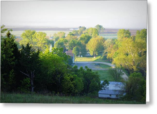 Hartsburg Greeting Cards - The View From the Hill Greeting Card by Cricket Hackmann