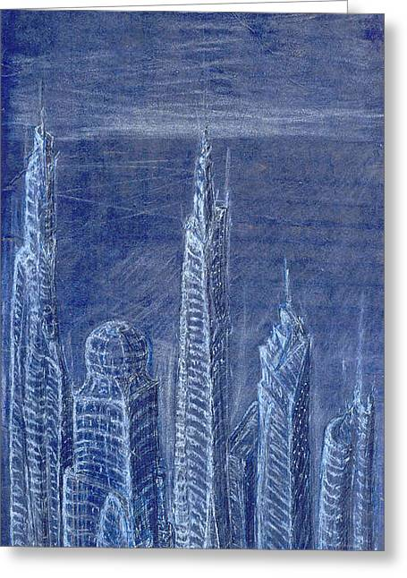 Best Sellers -  - Sketchbook Greeting Cards - The View From Up Here Greeting Card by J Michael Kilpatrick