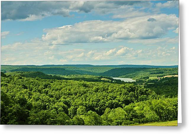 The Hills Greeting Cards - The View Goes On Greeting Card by Rachel Cohen