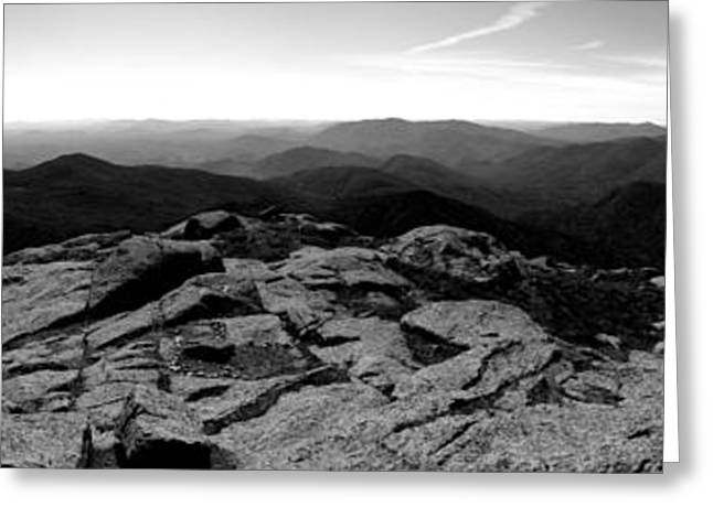 Sixers Greeting Cards - The View North From Mount Marcy Black and White Four Greeting Card by Joshua House