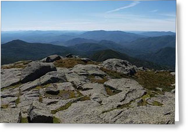 """high Peaks"" Greeting Cards - The View North from Mt. Marcy Greeting Card by Joshua House"