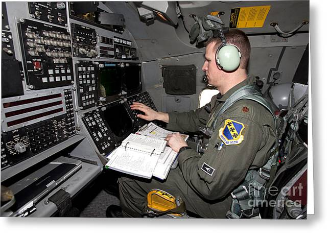 Reading Of Image Greeting Cards - The View Of The Aft Cockpit In A B-1 Greeting Card by HIGH-G Productions