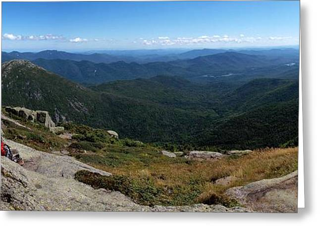 """high Peaks"" Greeting Cards - The View South from Mt. Marcy Greeting Card by Joshua House"