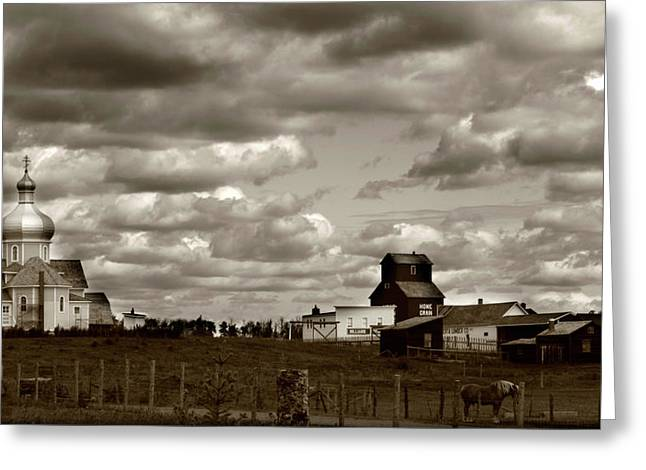 Abstract Digital Photographs Greeting Cards - The village Greeting Card by Jerry Cordeiro