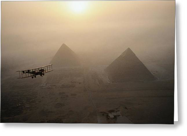 Unknown Greeting Cards - The Vimy Flies Above Fog-shrouded Greeting Card by James L. Stanfield