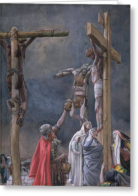 Calvary Greeting Cards - The Vinegar Given to Jesus Greeting Card by Tissot