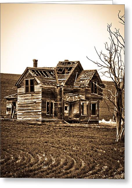 Old Barns Greeting Cards - The Vintage Farm House  Greeting Card by Steve McKinzie