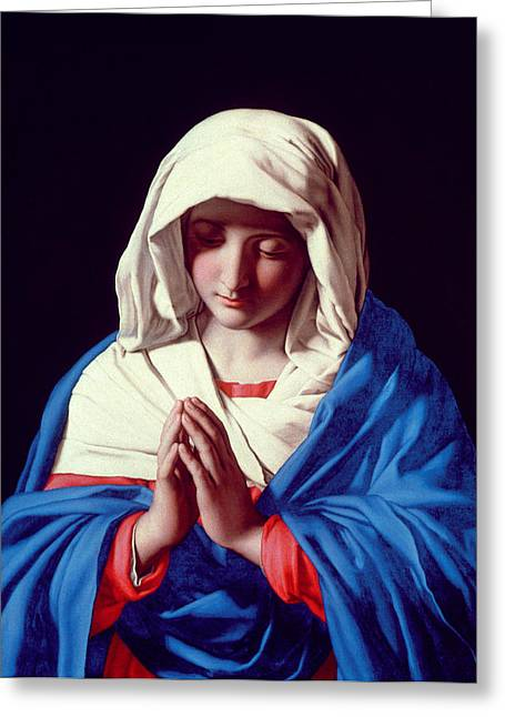 Devotional Greeting Cards - The Virgin in Prayer Greeting Card by Il Sassoferrato