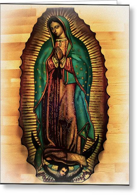 Our Lady Of Guadalupe Greeting Cards - The Virgin of Guadalupe  Greeting Card by Bill Cannon