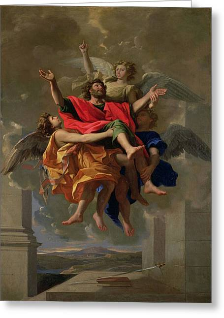 Poussin Greeting Cards - The Vision of St. Paul Greeting Card by Nicolas Poussin
