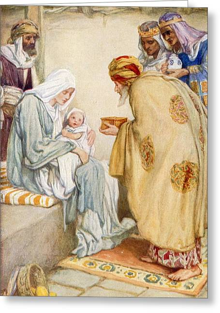 Son Gift Greeting Cards - The Visit of the Wise Men Greeting Card by Arthur A Dixon