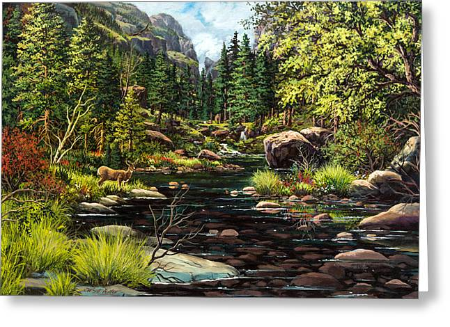 Recently Sold -  - Mountain Valley Greeting Cards - The Visitor Greeting Card by W  Scott Fenton