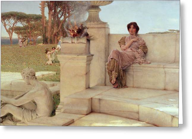 The Voice of Spring Greeting Card by Sir Lawrence Alma-Tadema