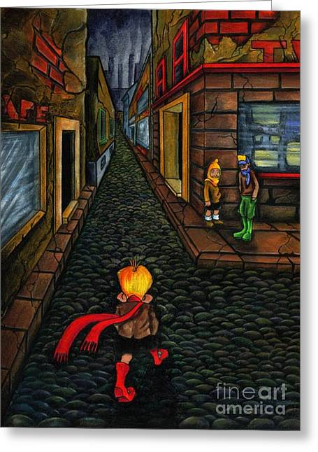 The Walk Of Loneliness Greeting Card by Spencer Bower