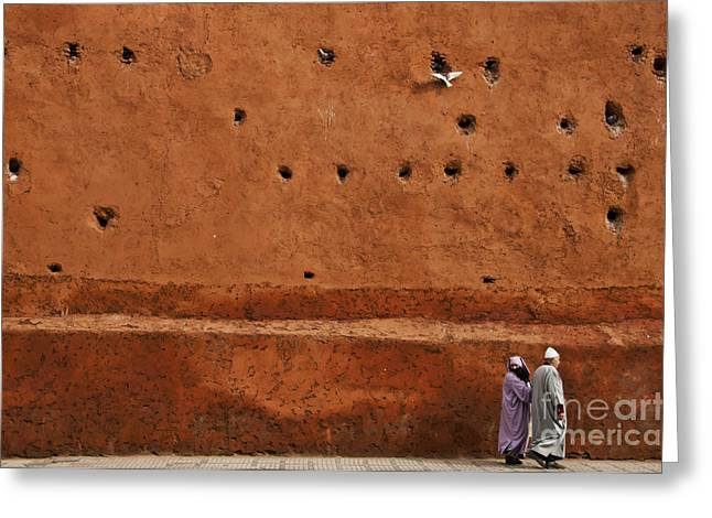 Ramparts Greeting Cards - The Wall Greeting Card by Marion Galt