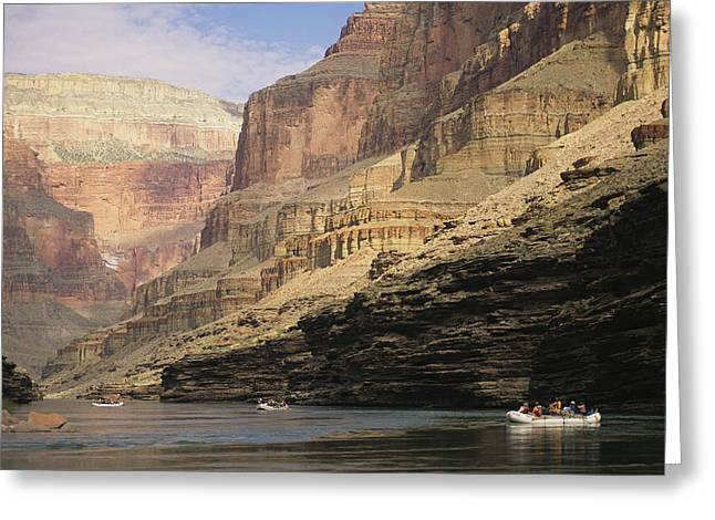 Inflatable Raft Greeting Cards - The Walls Of The Grand Canyon Dwarf Greeting Card by David Edwards
