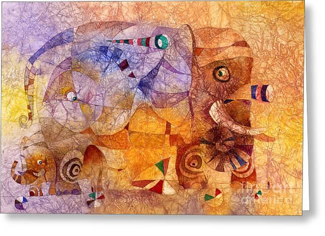 The Wandering Elephant 2 Greeting Card by Svetlana and Sabir Gadghievs