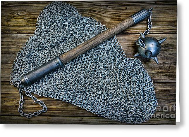 Knight Greeting Cards - The Warriors Mace Greeting Card by Paul Ward