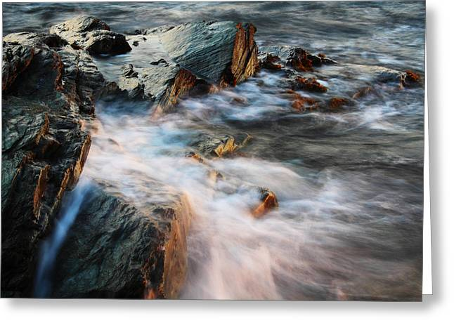 New England Coast Line Greeting Cards - The Wash Greeting Card by Andrew Pacheco