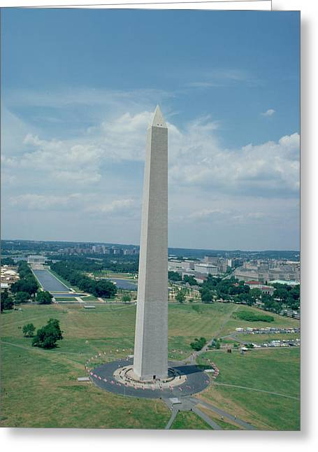 Reflecting Pool Greeting Cards - The Washington Monument Greeting Card by American School