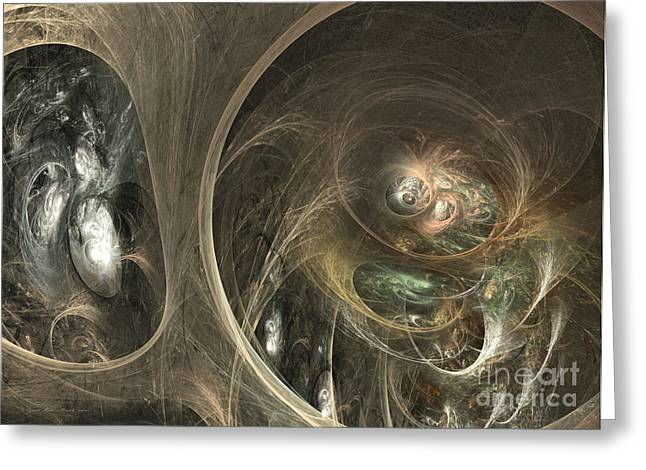 The Watcher Of Two Worlds Greeting Card by Sipo Liimatainen